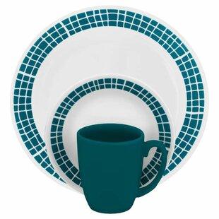 Livingware 16 Piece Dinnerware Set Service for 4  sc 1 st  Wayfair & Lightweight Dinnerware | Wayfair