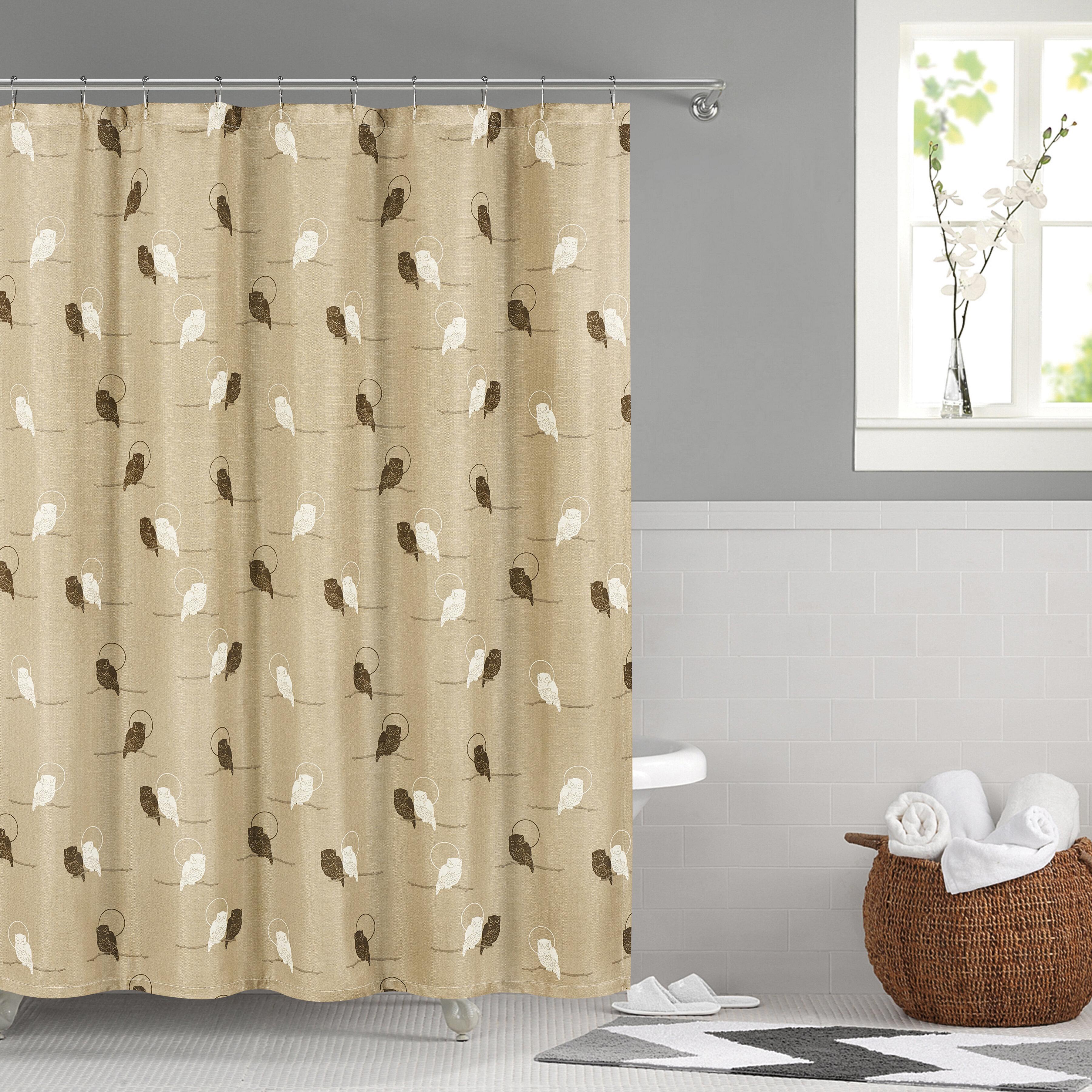 Winston Porter Priya Shower Curtain Royal Bath Geometric
