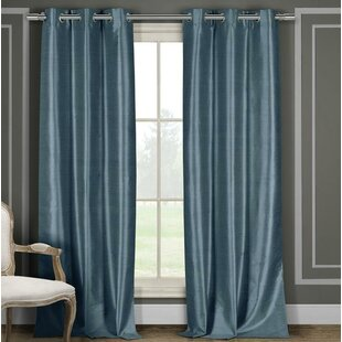 Solid Light Blue Curtains