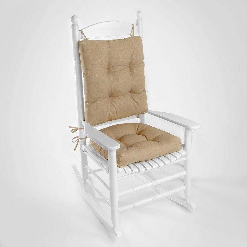 Superb Wayfair Basics Indoor Outdoor 2 Piece Rocking Chair Cushion Set Home Interior And Landscaping Palasignezvosmurscom
