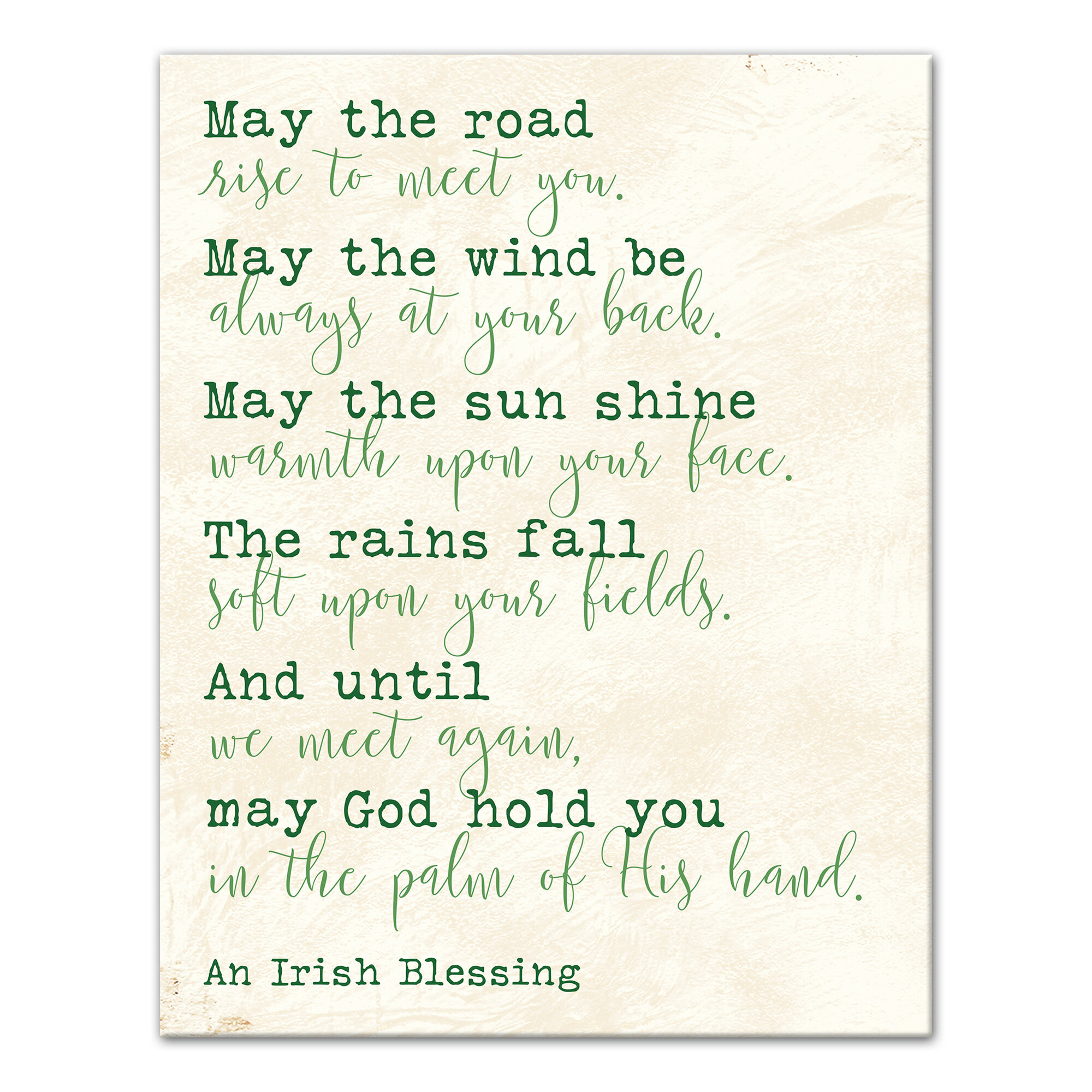 Red Barrel Studio \'Irish Blessing\' Textual Art Print on Wrapped ...