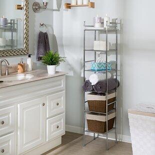 Free Standing Bathroom Shelving Youu0027ll Love | Wayfair