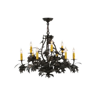 Meyda tiffany chandeliers youll love leaf and acorn 9 light chandelier by meyda tiffany aloadofball Image collections