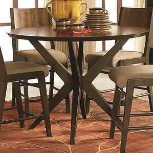 Carrion Round Counter Height Pub Table by Mercury Row