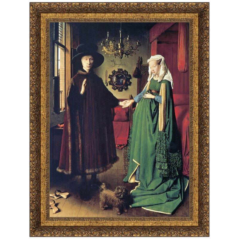 The Arnolfini Marriage 1434 By Jan Van Eyck Framed Painting Print
