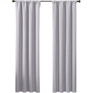 Buy Satin Room Darkening Solid Blackout Rod Pocket Single Curtain Panel!