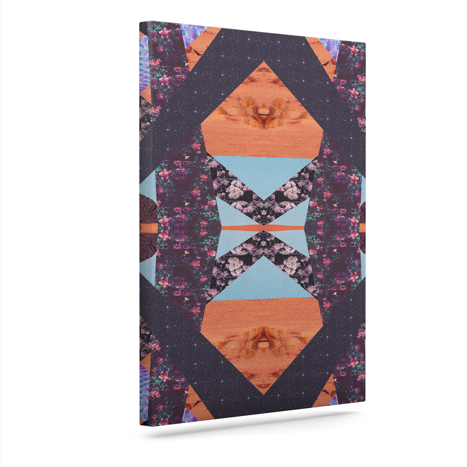 East Urban Home Pillow Kaleidoscope Graphic Art Print On Canvas