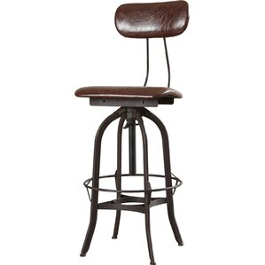 Manoel Adjustable Height Swivel Bar Stool by 17 Stories