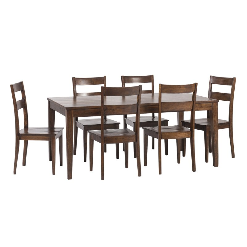 Superbe Gambino Rustic 7 Piece Dining Set
