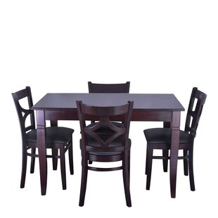Mignone 5 Piece Solid Wood Dining Set