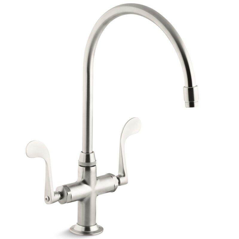 K 8762 Vs Pb Cp Kohler Essex Single Hole Kitchen Sink Faucet With 9