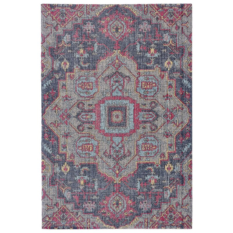 Bungalow Rose Schifflange Teal Area Rug & Reviews