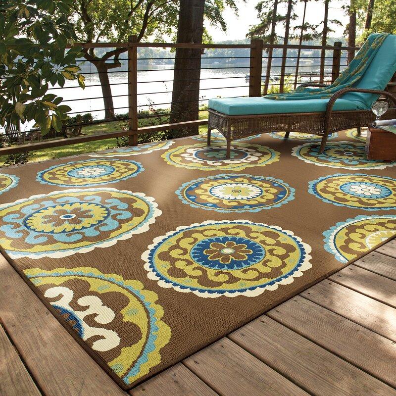 Andover Mills Brendel Brown/Green Indoor/Outdoor Area Rug ...