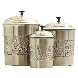 victoria 3 piece kitchen canister set - Kitchen Canister Sets