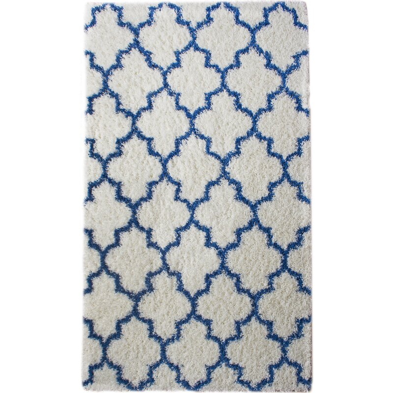 Rosdorf Park Burgess Whiteblue Area Rug Reviews Wayfair