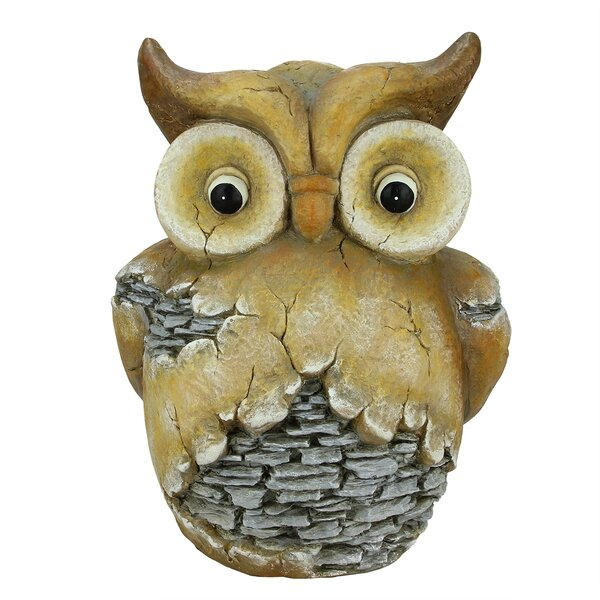Northlight Wide Eyed Stone Inspired Owl Outdoor Patio Statue U0026 Reviews    Wayfair.ca