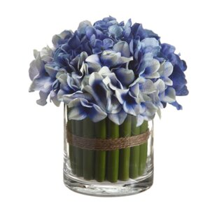 Small Hydrangea Centerpiece in Vase