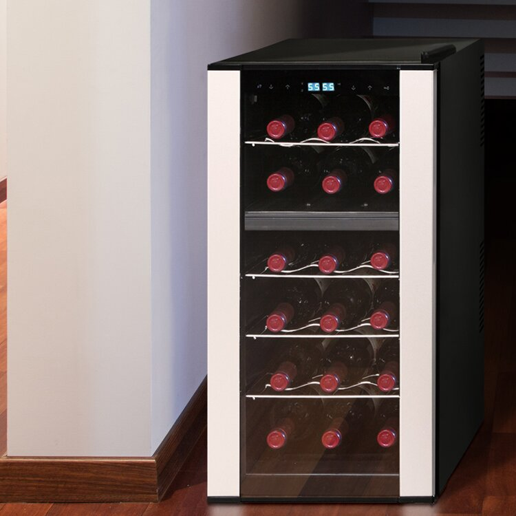 Vinotemp 18 Bottle Dual Zone Freestanding Wine Cooler