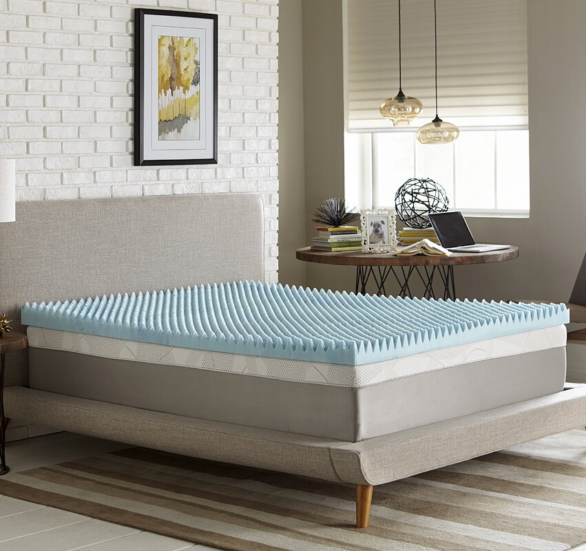 Simmons Curv Simmons Reversible 4 Gel Memory Foam Mattress Topper