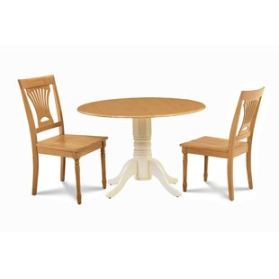 Troy 3 Piece Drop Leaf Solid Wood Dining Set