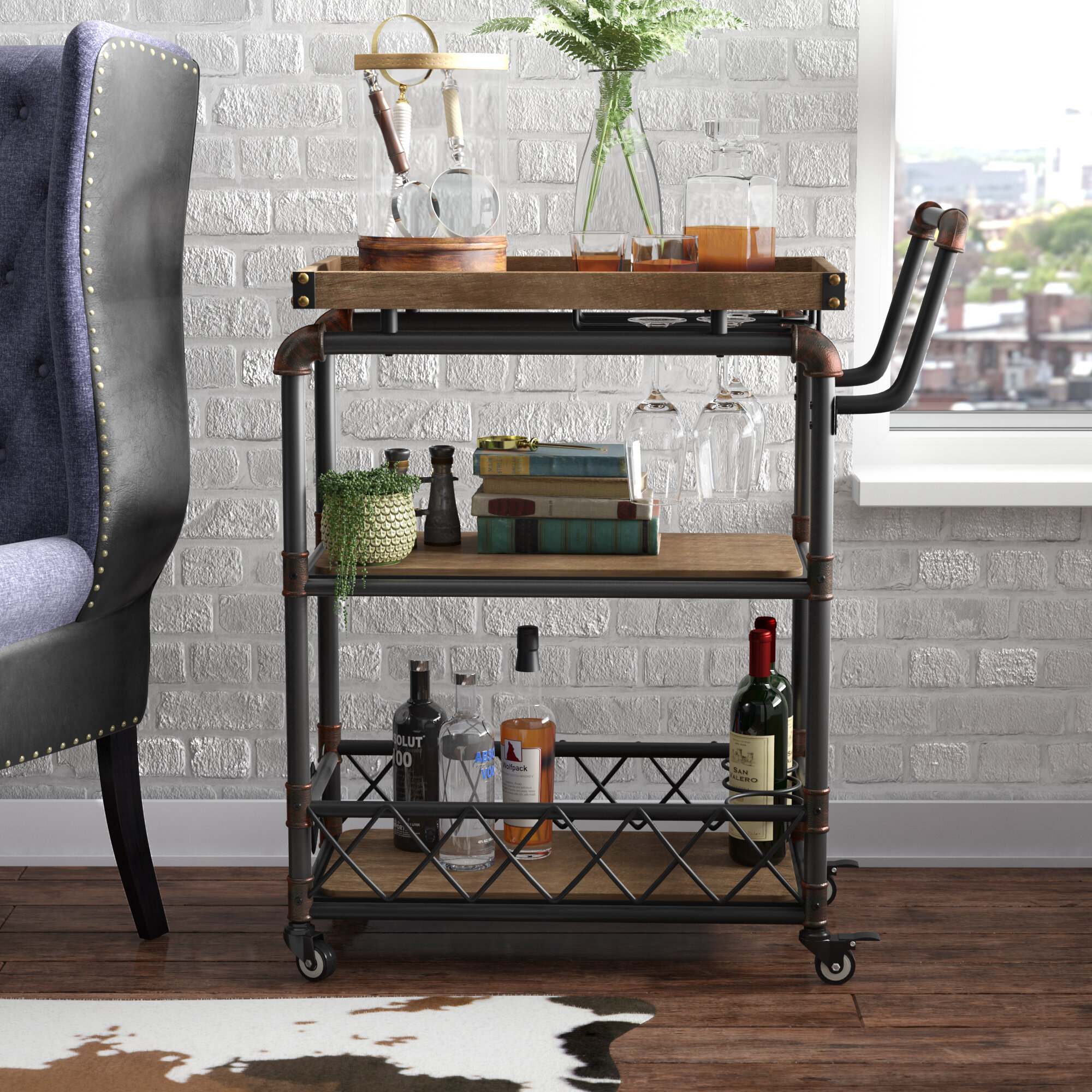 Vintage Beverage Cart Wayfair