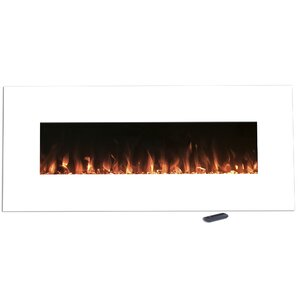 Lockport Pearl Wall Mount Electric Fireplace by Wade Logan