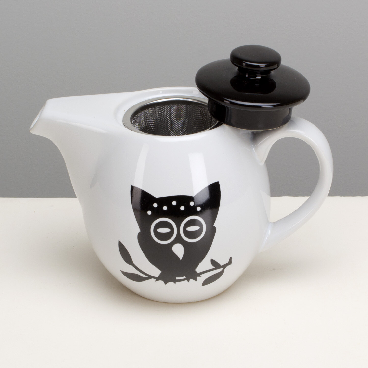 Omniware Night Owl Stoneware Teapot | Wayfair