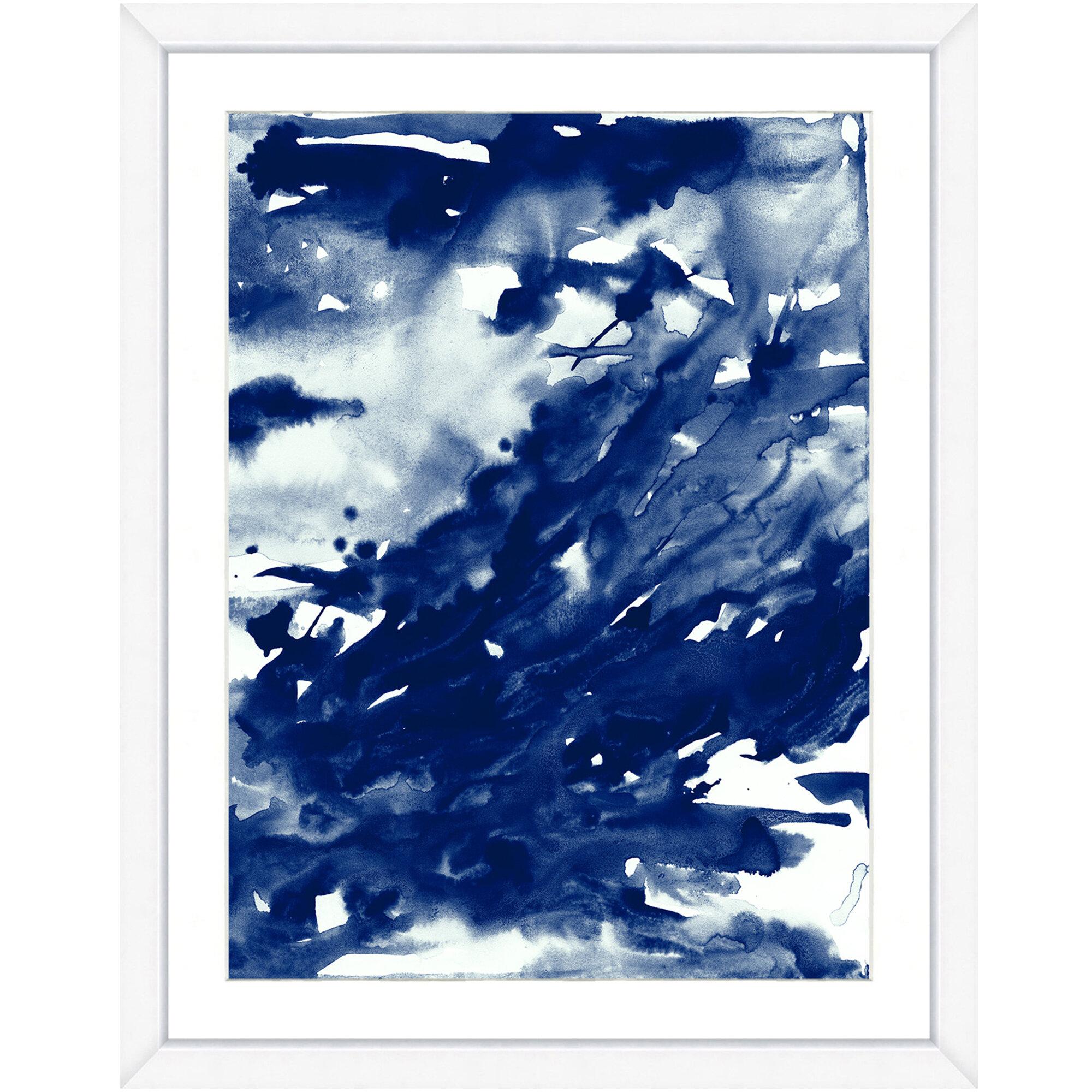 Bronx Blue Bedroom Project: Ivy Bronx 'Blue Ink Drama II' Framed Print