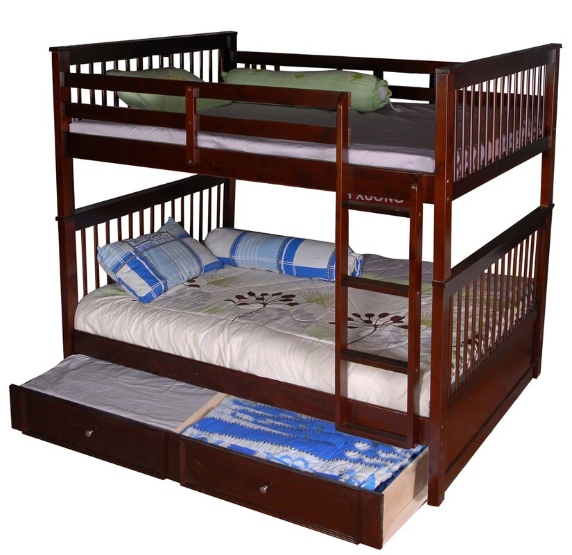 vicky full over full bunk bed with trundle