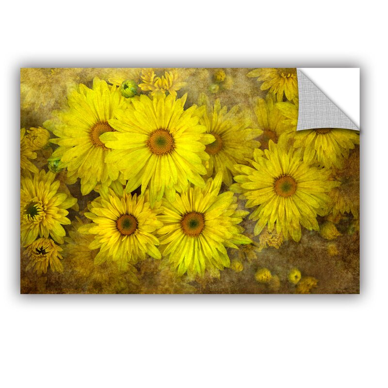 ArtWall Bright Sunflowers by Antonio Raggio Art Appeelz Removable ...