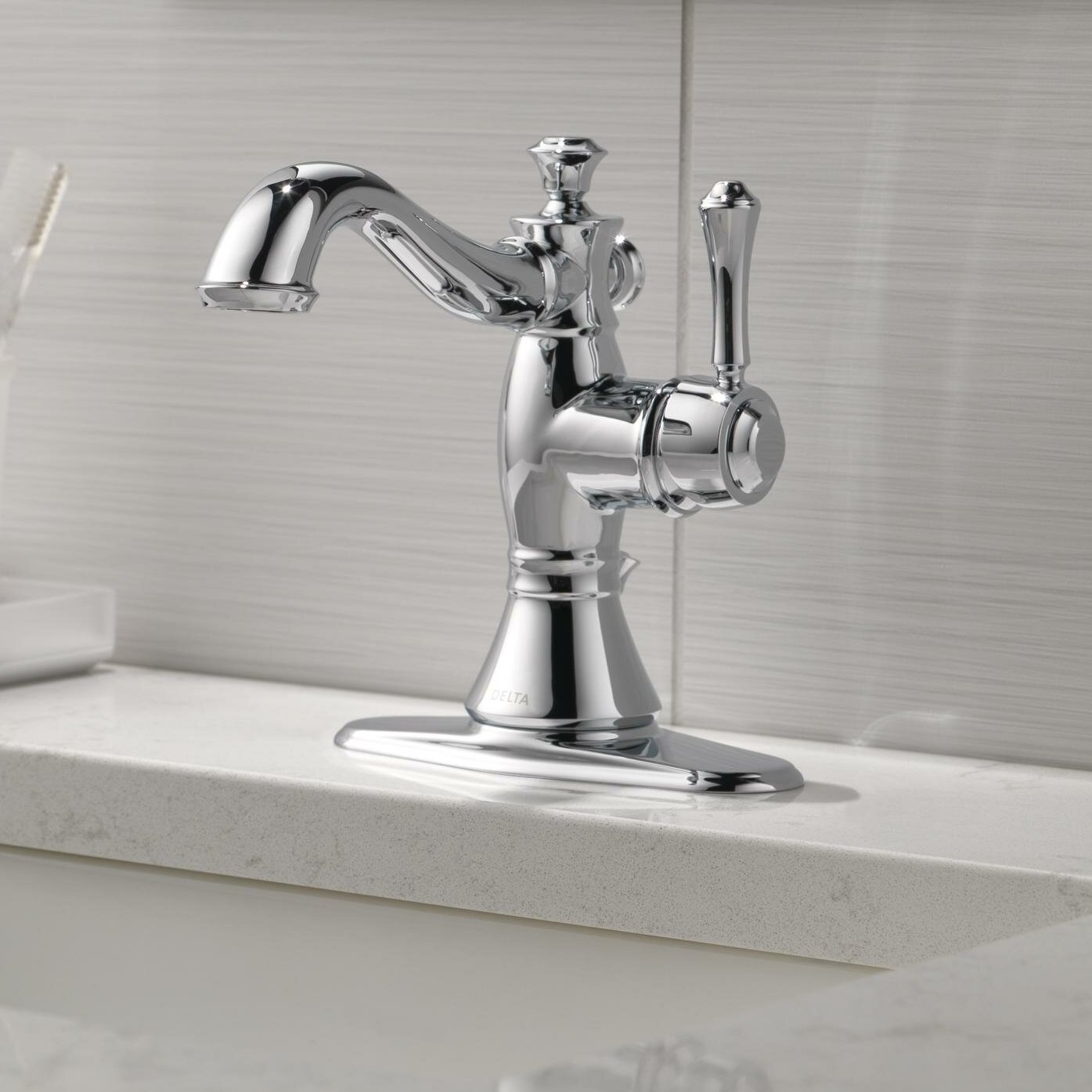 597lf Pnmpu Mpu Czmpu Delta Cidy Single Hole Bathroom Faucet With Drain Embly Reviews Wayfair