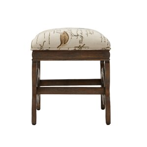 Echirolles Exposed Wood Ottoman by Loon Peak