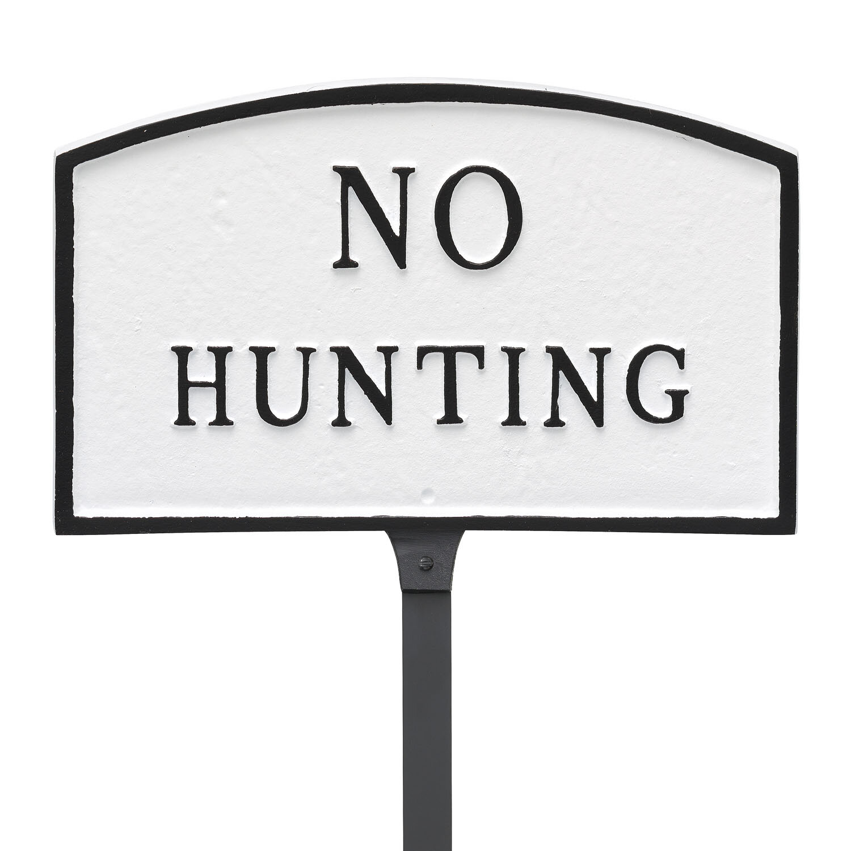 Kitchen Cupboards Montague Gardens: Montague Metal Products No Hunting Statement Garden Sign