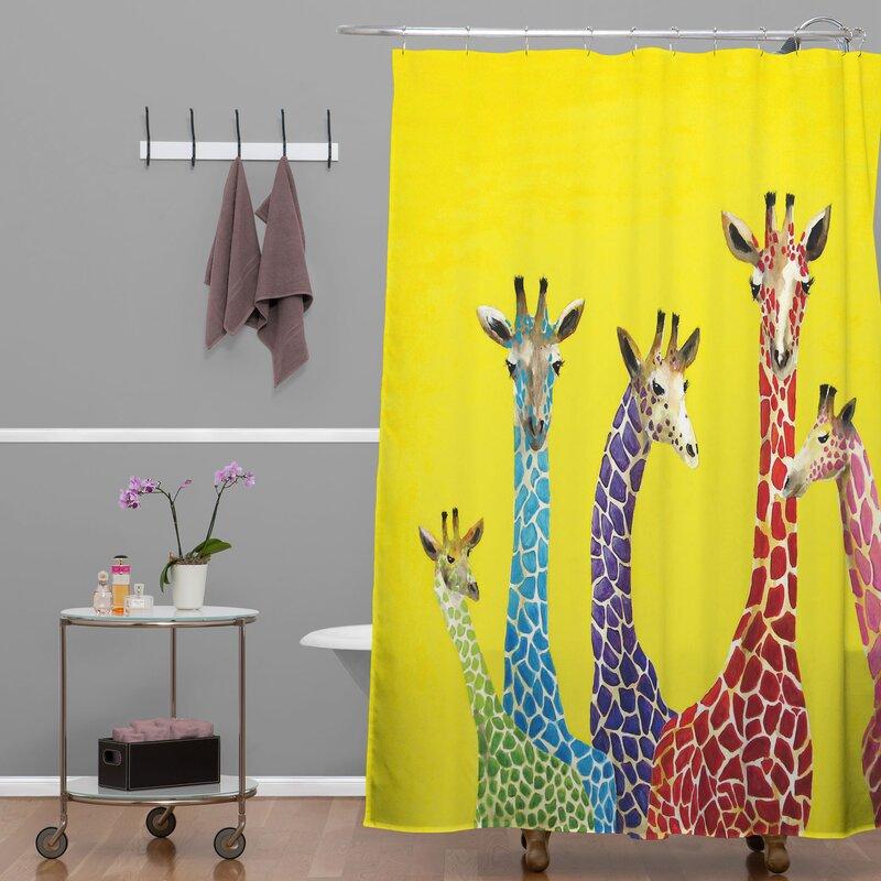 Superior Clara Nilles Jellybean Giraffes Shower Curtain