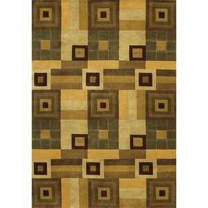 Caines Hand Woven Wool Brown/Tan Geometric Area Rug