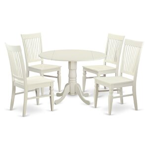 Abrahamic 5 Piece Wood Dining Set by Andover Mills
