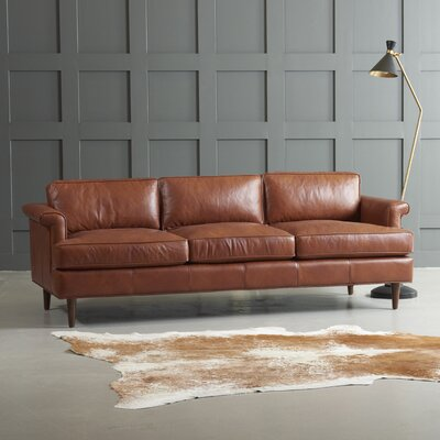 Carson Leather Sofa By Dwellstudio