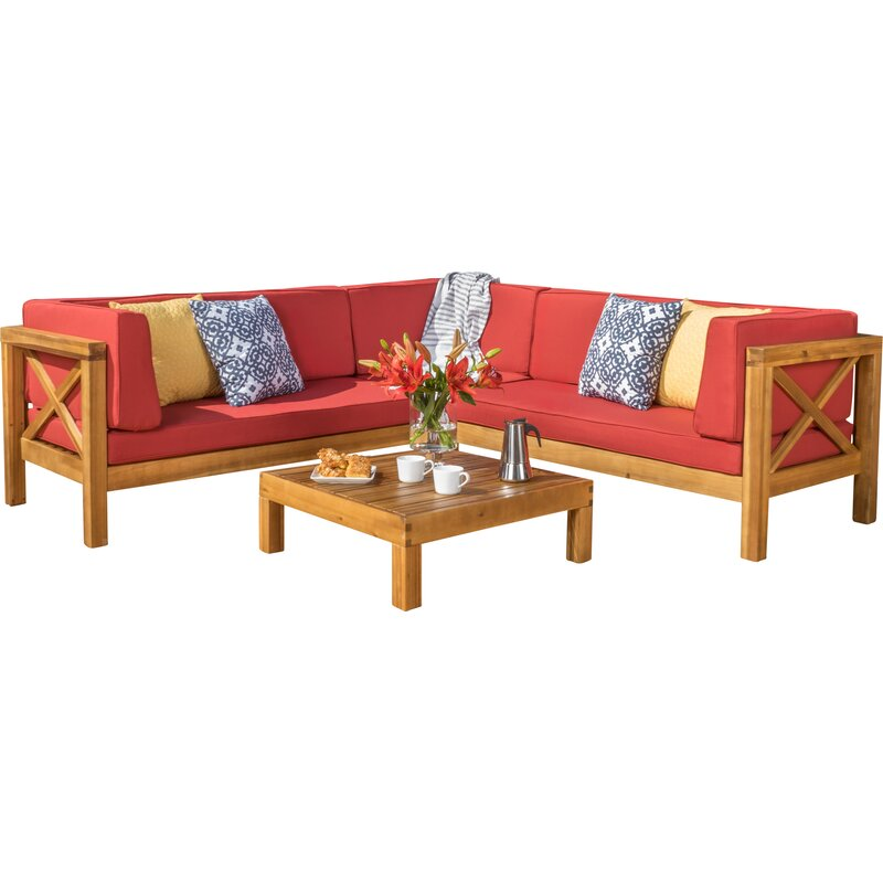 Attrayant Lejeune 4 Piece Sofa Set With Cushions