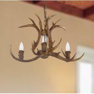wagoner 4light candlestyle chandelier - Antler Chandelier