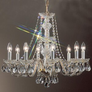 Monticello 8-Light Crystal Chandelier