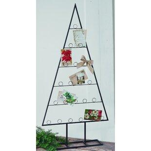 2 piece tabletop tree card holder set - Photo Holder Christmas Cards