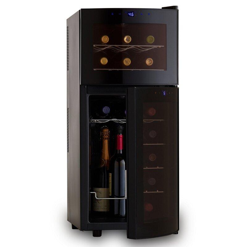 21 Bottle Dual Zone Freestanding Wine Cooler  sc 1 st  Wayfair & Wine Enthusiast Companies 21 Bottle Dual Zone Freestanding Wine ...