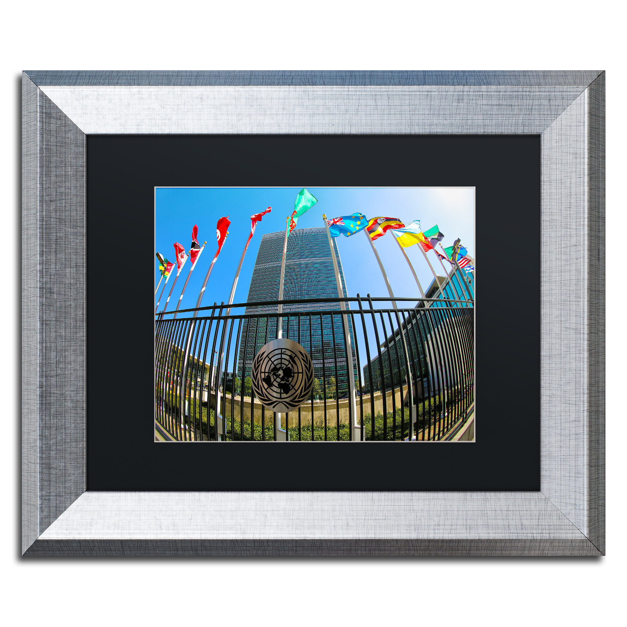 United Nations Dining Room: Trademark Art 'United Nations 1' By CATeyes Framed
