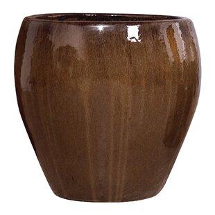 Large Round Glazed Ceramic Pot Planter