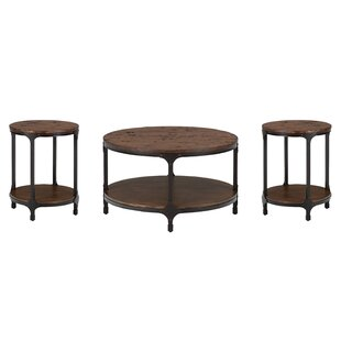 3 Piece Round Coffee Table Set Wayfair