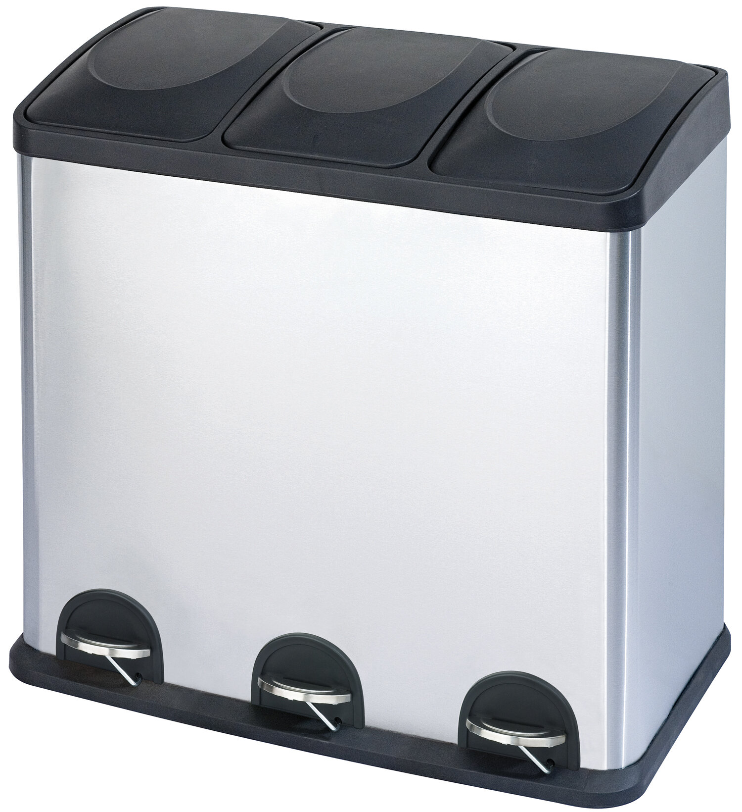 Step N Sort Stainless Steel 3 Compartment 16 Gallon Trash Can Reviews Wayfair