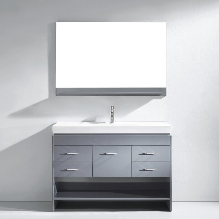 sink mirror with bathroom espresso vanity double modern inch pin