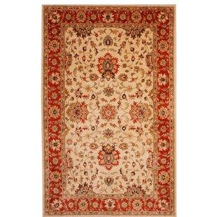 Notting Handmade Kilim Wool Beige/Red Rug by Astoria Grand