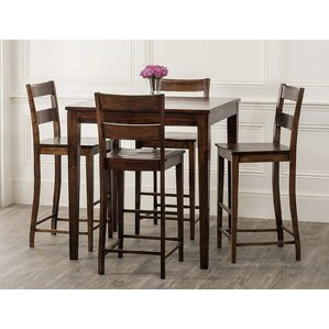 Panasonic Rustic 5 Piece Pub Table Set