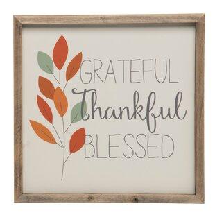 Beige Thanksgiving Banners & Signs You'll Love | Wayfair